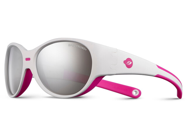 Julbo Puzzle Spectron 3+ Sunglasses Kids 3-5Y White/Fluorescent Pink-Gray Flash Silver